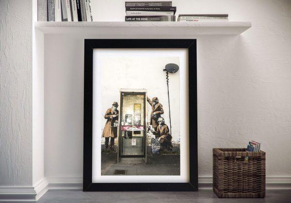 Banksy Phone Tap Framed All Art