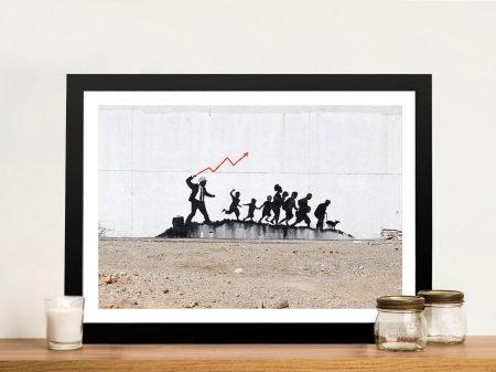 Banksy Coney Island NYC Framed Artwork