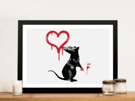 Banksy Rat Framed Art picture Sydney