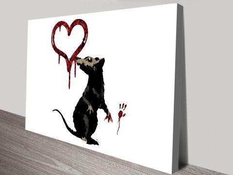 Banksy Rat Graffiti Canvas Posters Prints