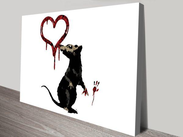 Banksy Rat Street Art Stretched Canvas Prints Australia