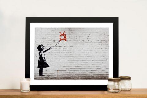 Banksy Balloon Girl Graffiti Framed Wall Art