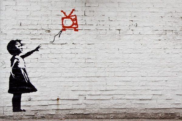 Banksy Mill Road Graffiti Canvas Print