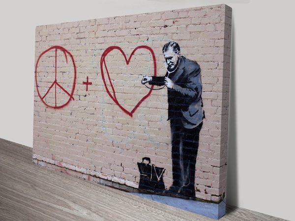Buy Banksy Doctor Peace & Love Graffiti Art