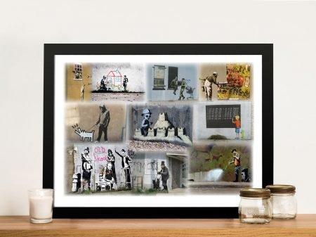 Bansky Collage Framed Wall Art Australia