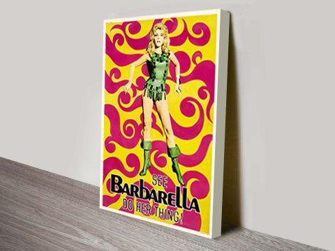 Barbarella classic film Poster wall art print