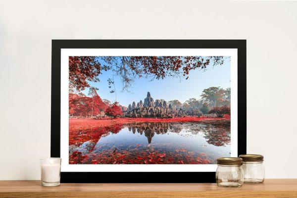 Bayon Temple Cambodia Framed Wall Art