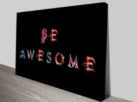 Be Awesome Vivid Typography