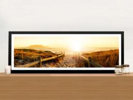 Sunset Beach Pathway Framed Wall Art