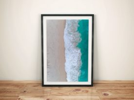 Beach Vibes Aerial View Framed Surf Art