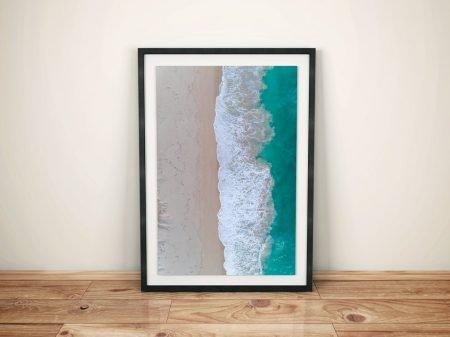 Beach Vibes Aerial View Framed Surf Art