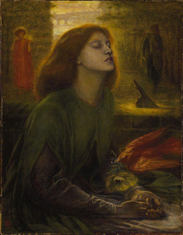 Beata Beatrix Dante Gabriel Rosseti Canvas Art Print Australia