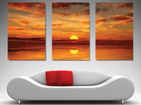 Beautiful-Sunrise Triptych Art on Canvas