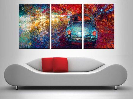 Becca's Bug Car Triptych Iris Scott Canvas