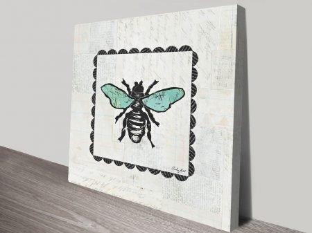 Bee Stamp Artwork | Print