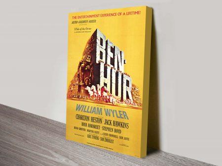 Ben Hur vintage film poster on canvas