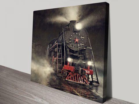 Beyond Express Steam Train Canvas Print