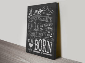 Something New Inspirational Quotes and Sayings Picture Canvas Prints