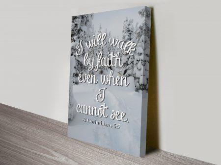 1 Corinthians 13:4-8 Biblical Inspirational Quote Ready to Hang Art Print