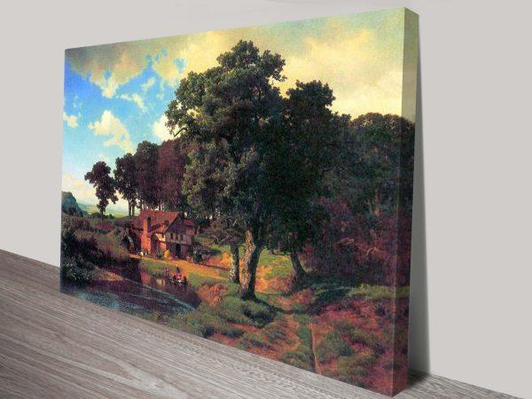 Bierstadt A Rustic Mill Cheap Wall Art Online