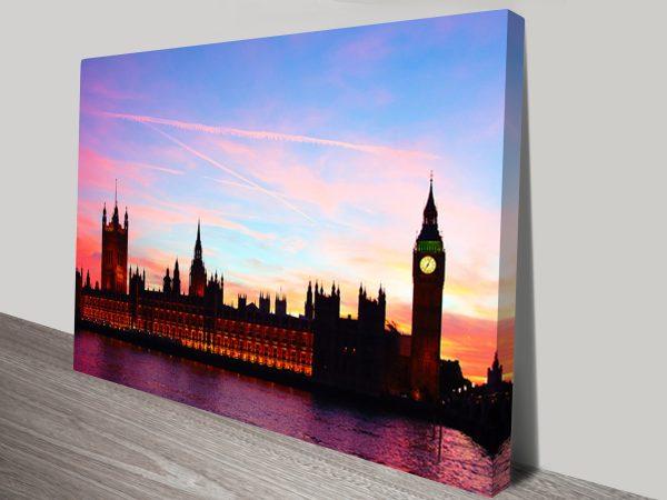 Big Ben London Skyline Canvas Print