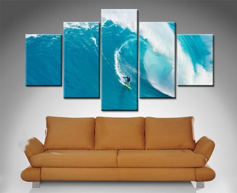 cant stop the waves 5 panel photo to canvas print