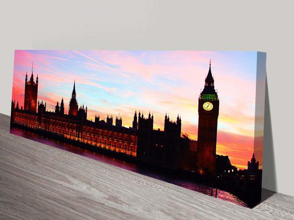 Big Ben panorama canvas print