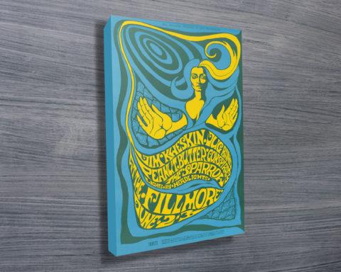 Bill Graham Filmore Poster Wall Art on Canvas