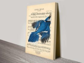 Vintage Songbird Canvas print