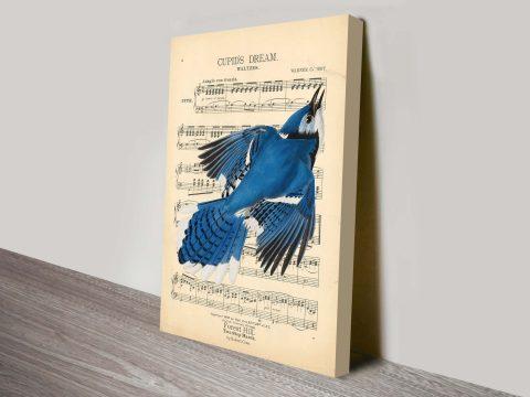 Vintage Songbird Canvas print
