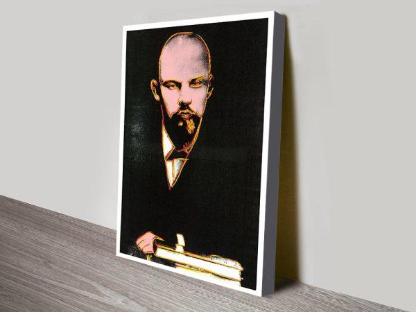 Andy Warhol Black Lenin Pop Art Box Canvas Picture