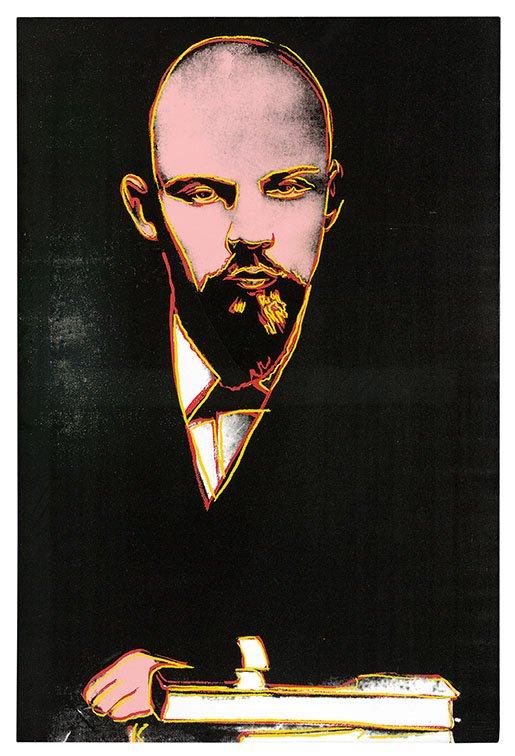 Andy Warhol Black Lenin Wall Art Picture Print Australia