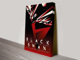 Black Swan movie poster canvas print