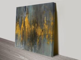 Black and Gold Abstract Danhui Nai Print