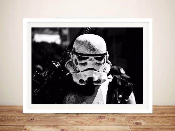 Black and White Star Wars The Force Awakens Framed Wall Art