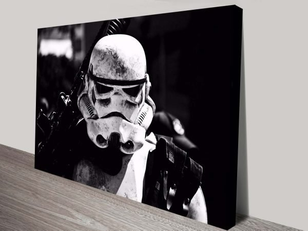 the battleworn stormtrooper canvas wall art
