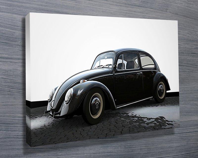 Black and White VW-Beetle Art