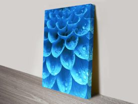 Blue Harmony Floral Abstract Wall Art Print