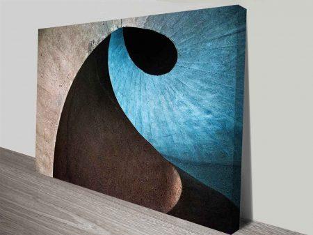 Blue Spirals Wall Art Canvas