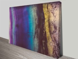 blue violet fluorite canvas photo art wall print