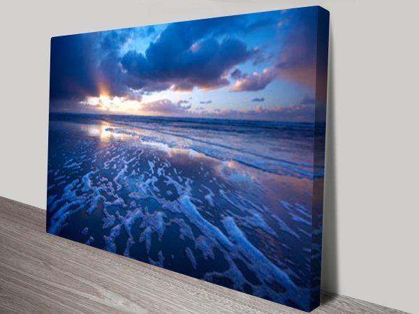 Blue reflections ocean art
