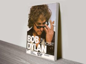 Bob Dylan Concert Poster Wall Art on Canvas