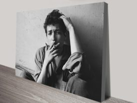 Bob Dylan cigarette Canvas Art Print