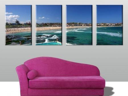 Bondi Beach 4 Panel Split Canvas