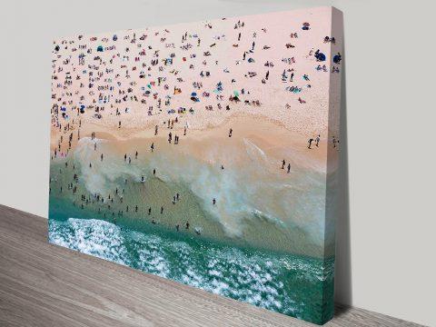 Bondi Beach Aerial Photo Canvas Print