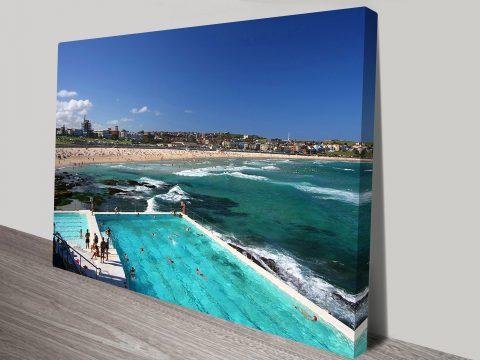 Bondi Icebergs canvas artwork