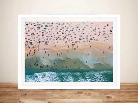 Bondi beach Aerial Framed Surf Wall Art Sydney