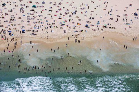 Bondi Beach Aerial Photo on Canvas