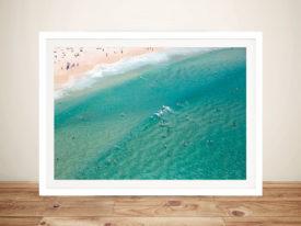 Bondi beach Aerial Photo Framed Wall Art