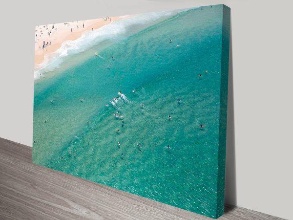 Bondi Beach Aerial Photo Wall Art Prints